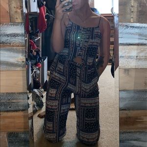 Multi-Colored ankle length jumpsuit